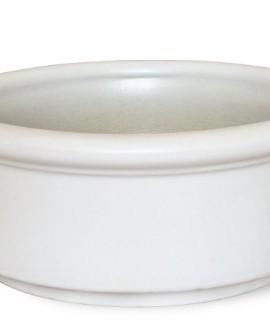 K-K-Bonsai-Pot-rond-25-x-25-x-11-cm-en-cramique-rsiste-au-gel-en-grs-blanc-0