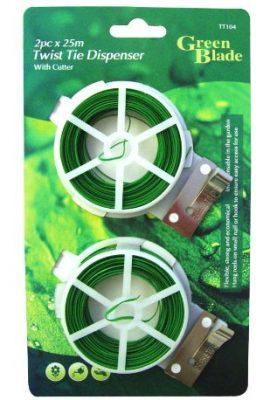 Green-Blade-Lot-de-2-rouleaux-de-cble-pour-plantes-avec-cutter-intgr-Parfait-pour-les-plantes-grimpantes-0